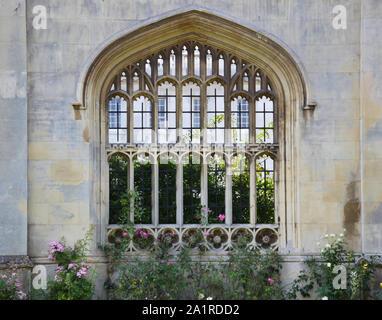Detalle del edificio en el King's College de Cambridge, Reino Unido