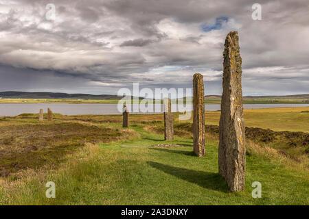 Anillo de Brodgar, Orkney, Escocia. Un círculo de piedra neolítica y henge