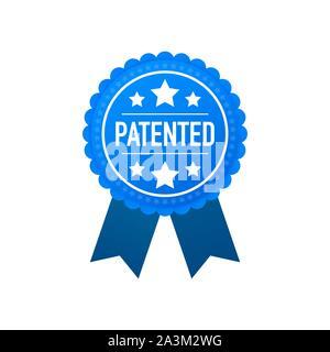 Blue Label patentado. Ilustración vectorial