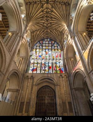 Vista completa de la catedral de Norwich preciosa vidriera