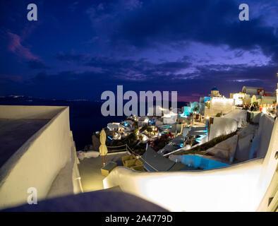 Vista de Santorini. Islas del mar Egeo, en Grecia.