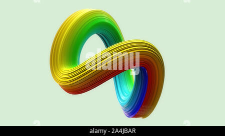 3D Render. Escultura abstracta antecedentes