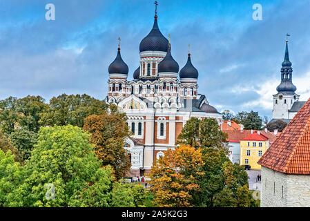 La Catedral Alexander Nevsky en Tallin, Estonia
