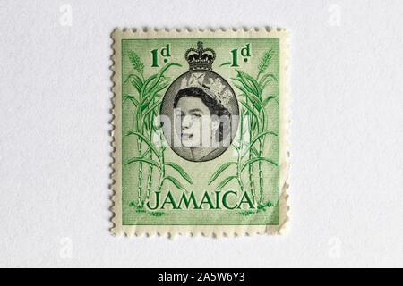 La reina Isabel II Jamaica sello 1D