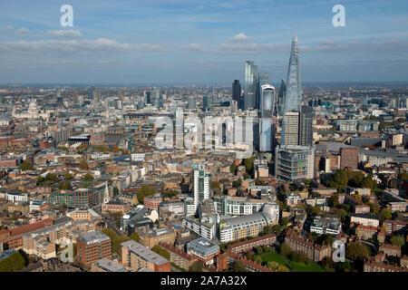 La ciudad de Londres y el Shard visto desde Bermondsey y South London