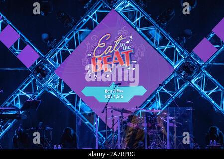 Orlando, Florida. Noviembre 01, 2019. Comer al Beat Festival stage en Epcot (44).
