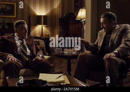 Al Pacino, Robert De Niro, 'El Irlandés' (2019) Credit: Netflix. / El Hollywood Archive