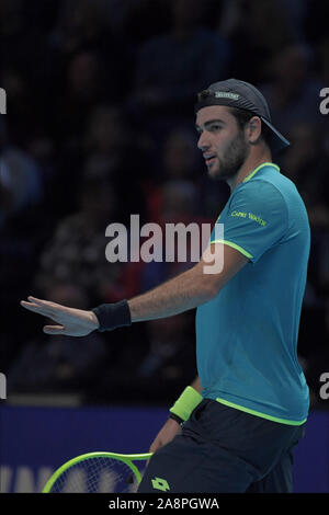 Londres, Italia. 10 Nov, 2019. berettini durante Nitto finales ATP - Tenis Internationals - Crédito: LPS/Roberto Zanettin/Alamy Live News