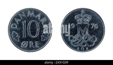 Moneda de 10 coronas noruegas de Dinamarca