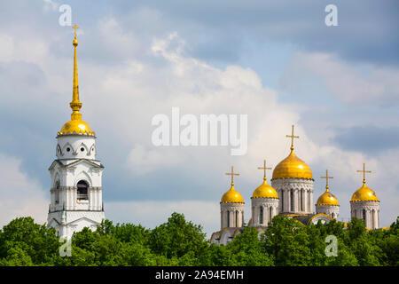 Catedral de la Asunción con campanario; Vladimir, Vladimir Oblast, Rusia