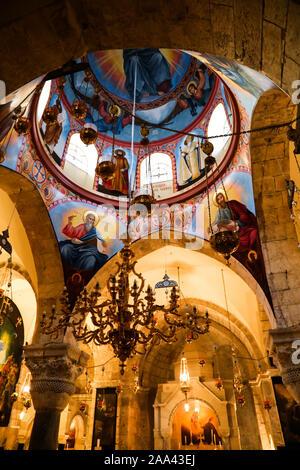 La iglesia del Santo Sepulcro, la Ciudad Vieja de Jerusalén, Israel