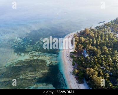 Vista escénica de antena Gili-Air isla de Bali, Indonesia