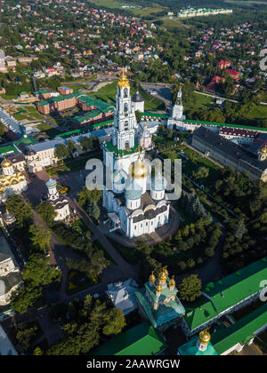 Vista aérea de la Lavra de la Trinidad de San Sergio, Moscú, Rusia