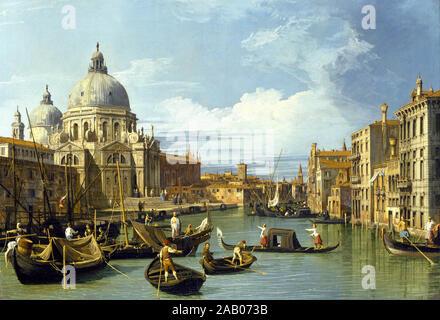 La entrada al Gran Canal de Venecia de Canaletto c. 1730