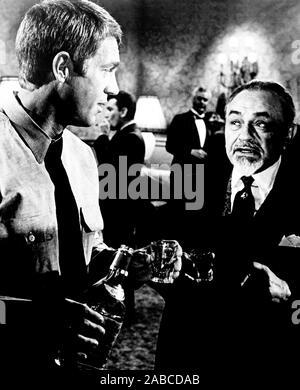 El Cincinnati KID, desde la izquierda, Steve McQueen, Edward G. Robinson, 1965