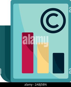 Diagrama de propiedad intelectual propiedad de documento icono ilustración vectorial