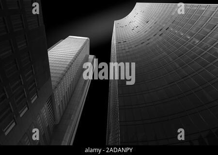 Fachada de modernos edificios de oficinas como Fineart Foto de stock