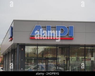 Supermercado ALDI signo exterior de Francia. Foto de stock