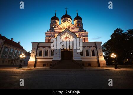 La Catedral Alexander Nevsky, la Iglesia Ortodoxa Rusa situado en la Ciudad Vieja de Tallin, Estonia