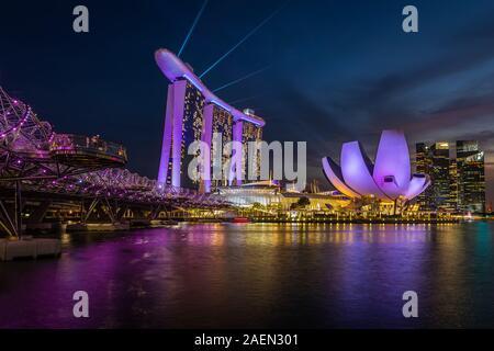 Marina Bay Sands en Singapur.