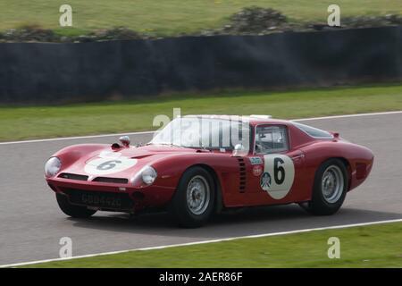 1964 Ferrari 250 GTO/64 piloto James Cottingham Graham Hill Trofeo Carreras Goodwood chiches