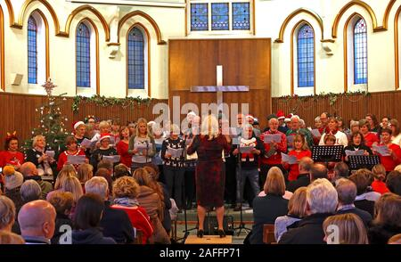 The Big Sing, Parte De Lymm Victorian Weekend, Warrington, Cheshire, Inglaterra, Reino Unido