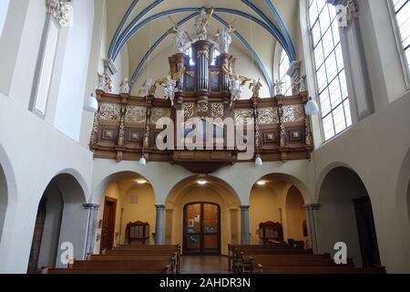 Schlosskirche Barocke Santa Maria von den Engeln, Brühl, Nordrhein-Westfalen, Deutschland