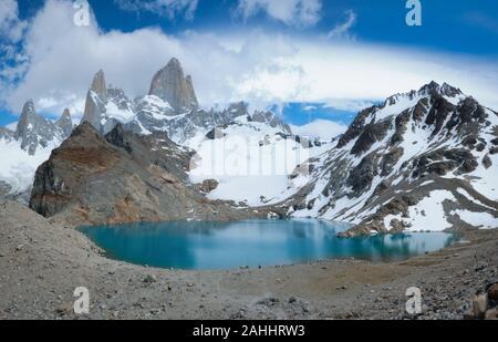 La Laguna de los Tres, El Chaltén, Patagonia, Argentina Foto de stock