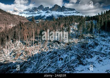 Carezza en los Dolomitas tras la fuerte tormenta