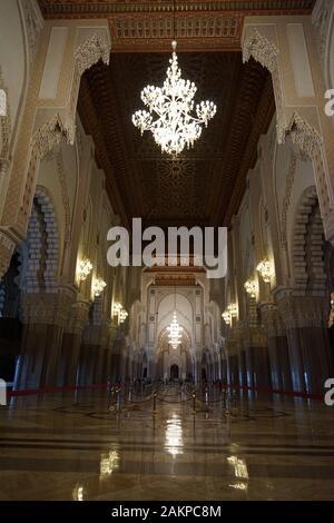Casablanca Marruecos Africa interior mezquita Hassan II.
