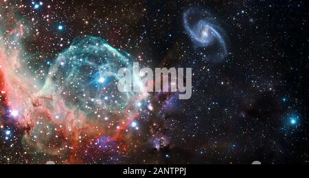 Nebulosas y galaxias en el espacio. Resumen Antecedentes cosmos. Los elementos de esta imagen proporcionada por la NASA