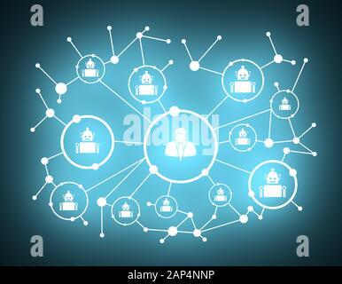 Fondo de crecimiento con líneas, círculos y de integrar los iconos. Símbolos conectado por digital, interactiva y el concepto de comunicación global. Derechos y robo