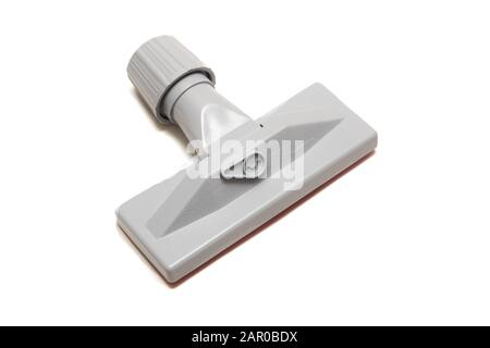 Cepillo gris para hoover, aislado sobre fondo blanco