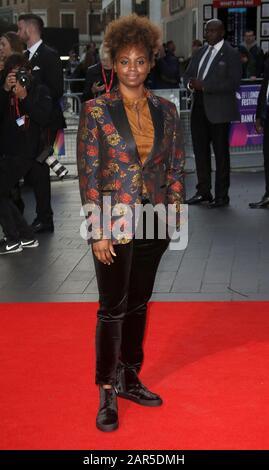 05-Oct-2017 - Londres, Inglaterra, Reino Unido - 61º Festival De Cine De Londres Bfi - Estreno Europeo 'Mudbound', Odeon Leicester Square - Arribos De Red Carpet Foto Foto de stock