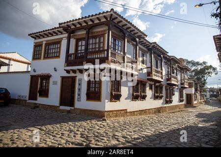 Villa de Leyva, casa de pueblo de estilo colonial típico de la ciudad.