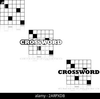 Conjunto de iconos de una pequeña sección de un crucigrama