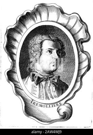 1726 CA , PARÍS , FRANCIA : el pintor francés Pierre-Charles Trémolières ( 1703 – 1739 ) . Segundo Premio de Roma en 1726 . Casado en 1734 con ital