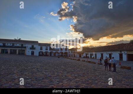 Puesta de sol en Villa de Leyva, Boyacá, Colombia
