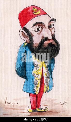 Abdul Hamid II (turco otomano: عبد الحميد ثانی, 'Abdü'l-Ḥamīd-i sânî; turco: İkinci Abdülhamit; 22 de septiembre de 1842 – 10 de febrero de 1918) fue el 34º Sultán del Imperio Otomano y el último Sultán que ejercía un control autocrático efectivo sobre el estado fracturado. Supervisó un período de decadencia en el poder y la extensión del Imperio, incluyendo pogromos generalizados y masacres del gobierno contra las minorías del Imperio (llamadas las masacres de los Hamidianos después de él), así como un intento de asesinato, Gobernando desde el 31 de agosto de 1876 hasta que fue depuesto poco después de la Revolución de los jóvenes Turcos de 1908, en adelante