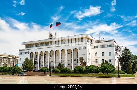 Edificio Del Gobierno De Daguestán En Makhachkala, Rusia Foto de stock