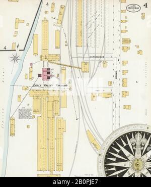 Imagen 4 Del Mapa Del Seguro De Incendios Sanborn De Ridgway, Elk County, Pennsylvania. Ago 1898. 6 Hoja(s), América, mapa de calles con una brújula del siglo Xix