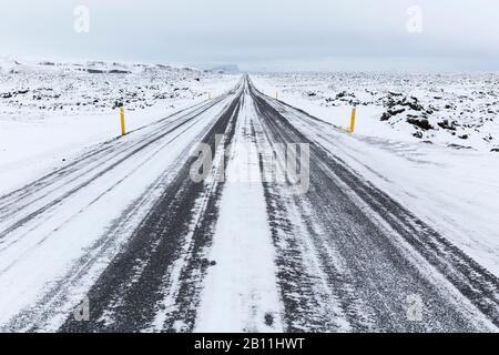 National Road 1 o Ring Road, la principal ruta de tráfico de Islandia