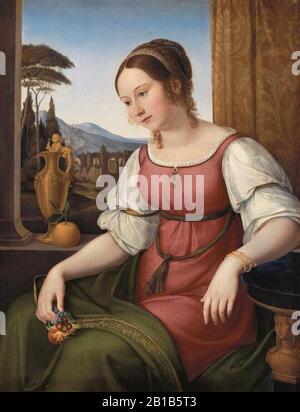 Friedrich Wilhelm Von Schadow - Retrato De Una Joven Romana (Angelina Magtti) -