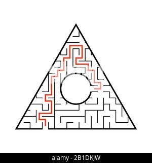 Abstact. Juego para niños. Rompecabezas para niños. Laberinto enigma. Ilustración vectorial