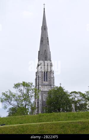 Campanario De La Iglesia De San Albans, Copenhague, Dinamarca