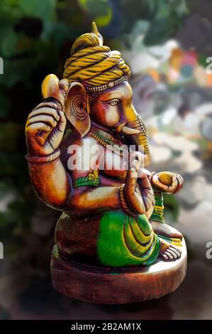 Dios hindú Ghanesa. Ganesha ídolo. Foto de stock