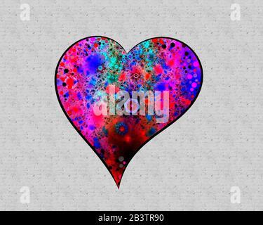 ARTE contemporáneo: Heartbeat (diseño de tarjetas de felicitación)