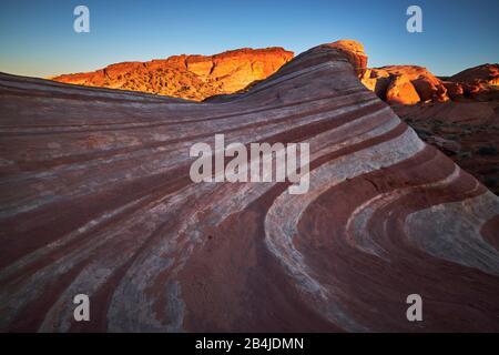 Estados Unidos, Estados Unidos De América, Nevada, Valle De Fuego, Parque Nacional, Sendero De Olas De Fuego, Sierra Nevada, California