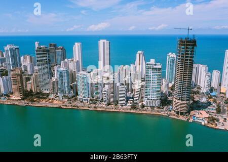 Vista aérea de Cartagena Bocagrande