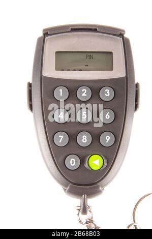 Generador digital de códigos PIN para un acceso seguro a bancos aislado sobre fondo blanco